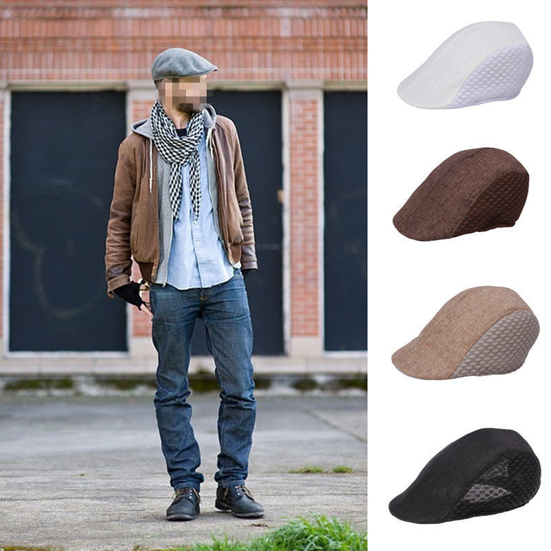 Retro Mens Cotton Gatsby Cap Ivy Hat Golf Driving Summer Sun Flat Visors  Cabbie Newsboy-in Visors from Apparel Accessories on Aliexpress.com  99cdb704010