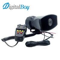 Digitalboy Brand New 12V 100W 5 Sounds Tone Car Truck Speaker Loud Siren Car Horns 105db