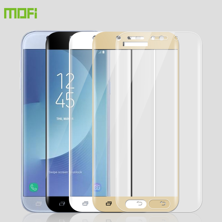 MOFI For Samsung Galaxy <font><b>J7</b></font> 2017 3D Full Screen Coverage Tempered Glass Screen Protector Full Cover Film For Samsung <font><b>J7</b></font> 2017