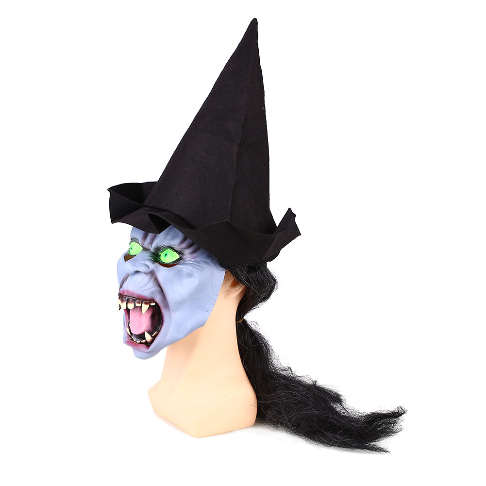 Halloween Scary Horrible Witch Mask Tricks Prank Jokes Costume Party Supplies
