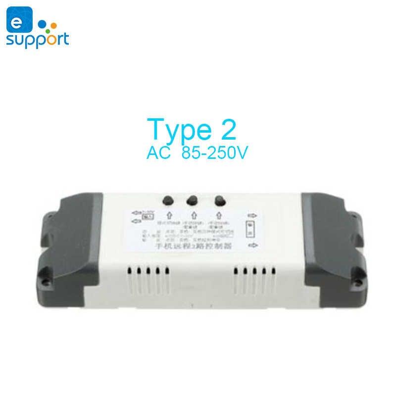 EWeLink wifi inteligente interruptor Canal 2 relé de casa inteligente módulo wifi DC5V V 24V 12V v 32V 220 V interruptor de cortina de motor de bloqueo automático