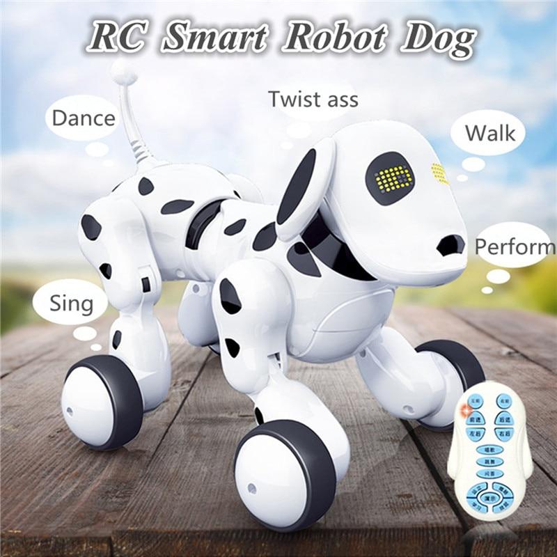 RC Smart Robot Dog Sing Dance Walking Talking Dialogue RC Pet Toy Children Gift Kids Presents intelligent wireless remote control robot dog kids dancing walking dog