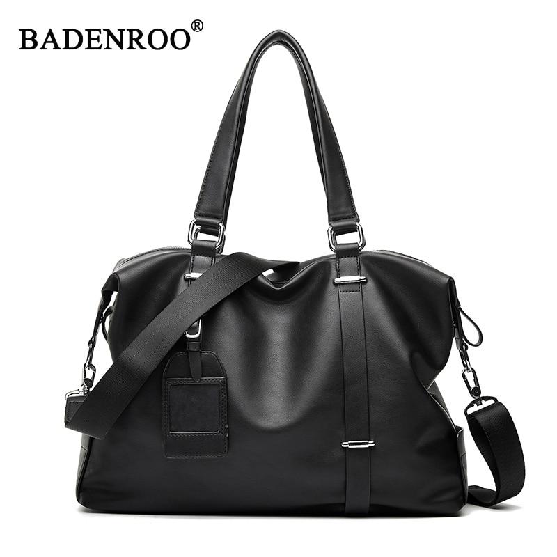 Men shoulder bag pu handbag large capacity Canvas Messenger Bags Man Handbag Tote Crossbody Bag Large Casual Travel bags black цена