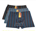 Men's boxer Middle-aged cotton stripe underwea care breathable soft and comfortable XXXXL XXXXXL  free shipping AT890039