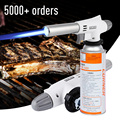 920 Metal Flame Gun Welding Gas Torch Lighter Heating Ignition Butane Portable Camping Welding Gas Torch For Hiking Camping