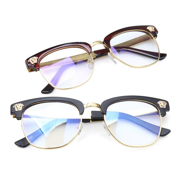 ae907ca6b1 New 2015 Trendy Men Fashion Women Anti Radiation Protection Semi Rimless  Eyeglasses Computer Optical Glasses Brand for Men Women