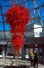 Free Shipping Festival Decoration High Ceiling Red Crystal Chandelier
