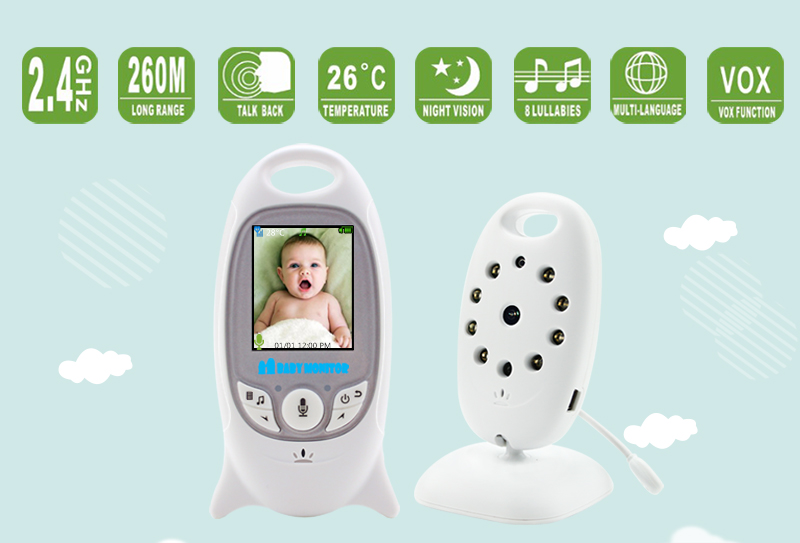 Wireless Video Baby Monitor with 2 Inches LCD Two Way Audio Talk Night Vision - VB601 6
