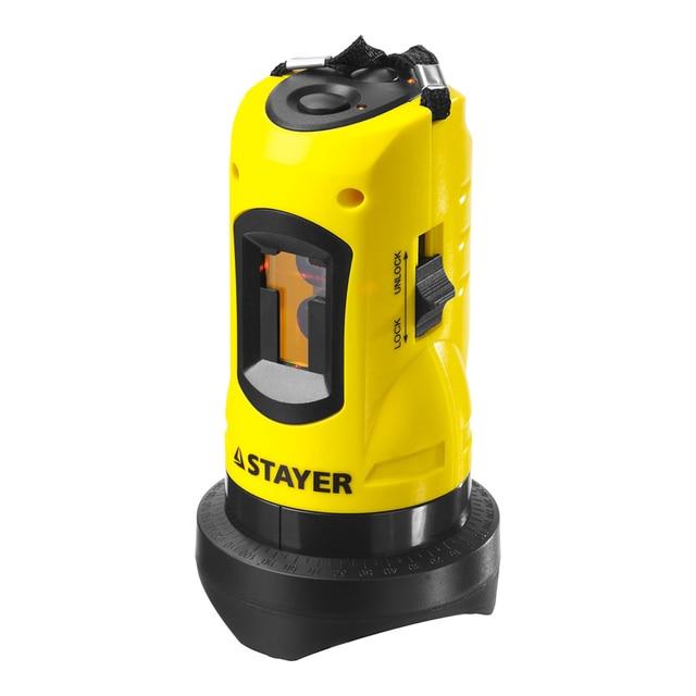 Уровень лазерный автоматический STAYER 34960 (три режима Вертикаль, горизонталь, крест, автоматический компенсатор)