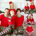 2016 2 unids SaleChristmas Caliente Nuevos Niños Del Algodón ropa de Dormir ropa de Navidad de la Familia Pijamas Niño Pijamas Del Bebé Conjunto