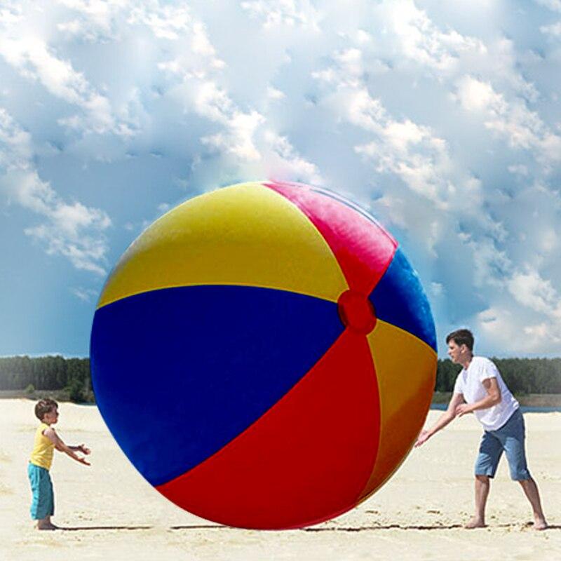 200 CM Gigantesque Ballon De Plage Charme Super Grand Coloré Ballon Gonflable Piscine En Plein Air Jouer Jeux Jouet Amusant Pour Les Enfants adulte