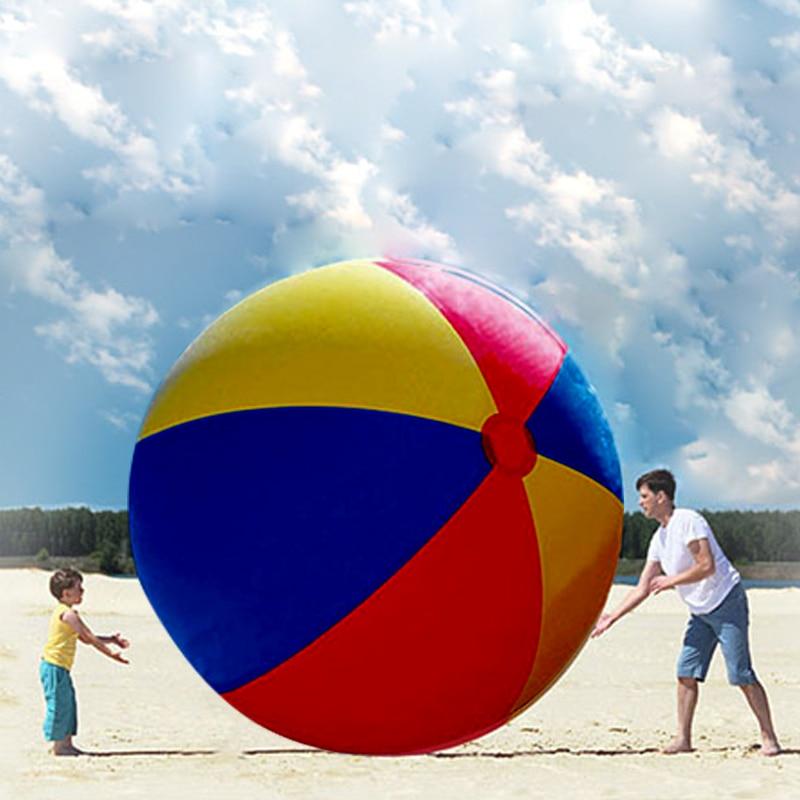 200 CM gigantesque plage balle charme Super grand coloré gonflable balle piscine en plein air jouer jeux amusant jouet pour enfants adulte