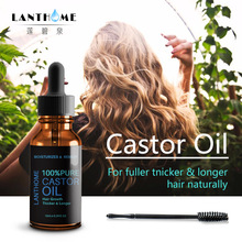 lanthome 10ML Black Castor Oil Natural Hair Growth Eyebrow Enhancer Serum Lash L
