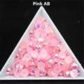 500pcs 3D Nail Art Tips 6mm SS30 Pink Jelly AB Colors Resin Flatback Rhinestone Non Hotfix Use Glue On Nails Decoration
