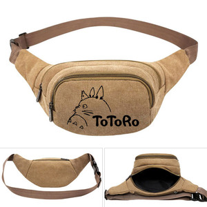 Image 2 - My Neighbor Totoro Anime  Canvas Waist Pack Bag Pouch Belt Travel Hip Casual Fanny Bag Money Phone Belt Bag