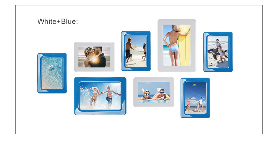 930 Magnetic Photo Frame With Adhesive Crystal Surface Kids Room Wall Decor Magnet Picture Frame_09