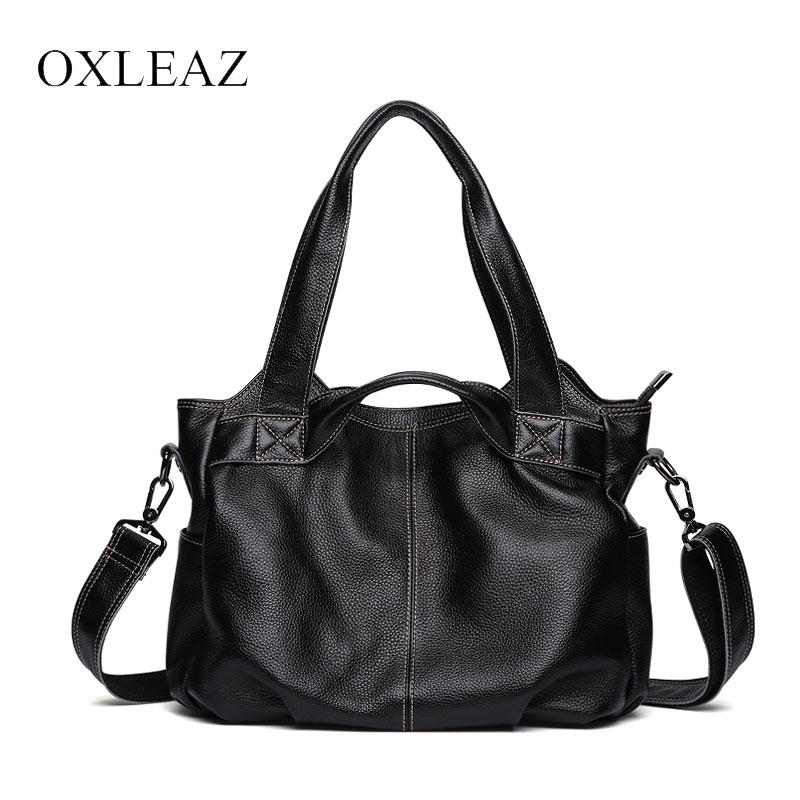 OXLEAZ Ladies Bag Top-Handle Women Shoulder Bags Fashion Genuine Leather Women's Handbags Female Large Tote Bag bolsos mujer seven skin brand women shoulder bag female large tote bag ladies pu leather top handle bags luxury handbags women bags designer