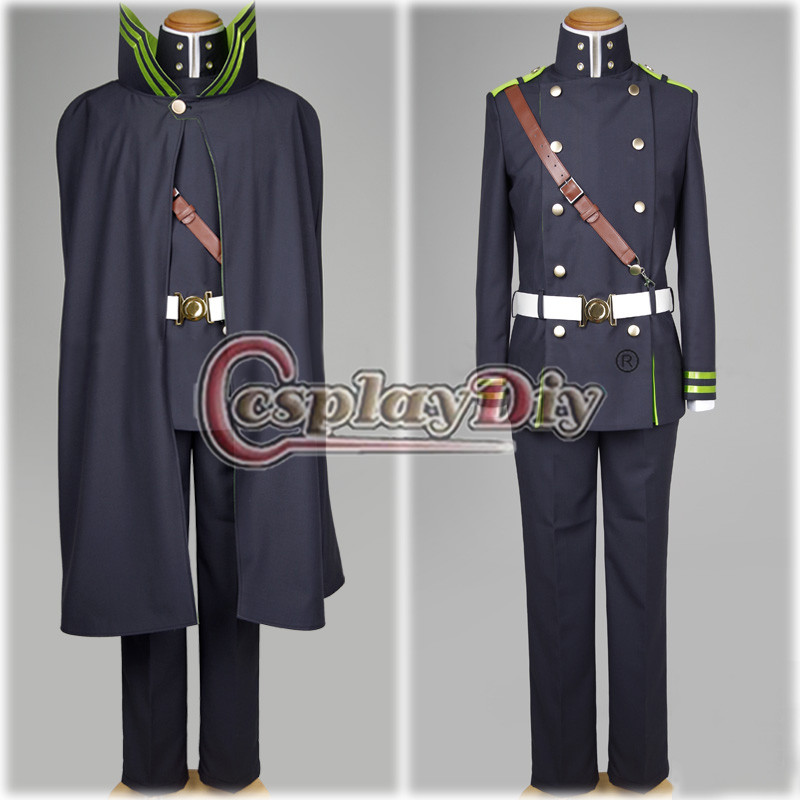 Seraph of the End Yuichiro Hyakuya Cosplay Costume Adult Halloween Military Uniform Custom Made D0629