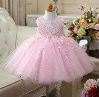Retro Flower Girl Dress Lace Tulle Party Pageant Unique Design Kids Clothing 2017 Summer Princess Dresses