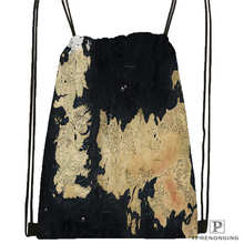 Custom MAps  Drawstring Backpack Bag Cute Daypack Kids Satchel (Black Back) 31x40cm#2018611-2(21)