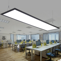 modern Black LED Panel Light Panel Light led integrated ceiling lamp office chandeliers office lights Acryl Flat Lamp Simple LED