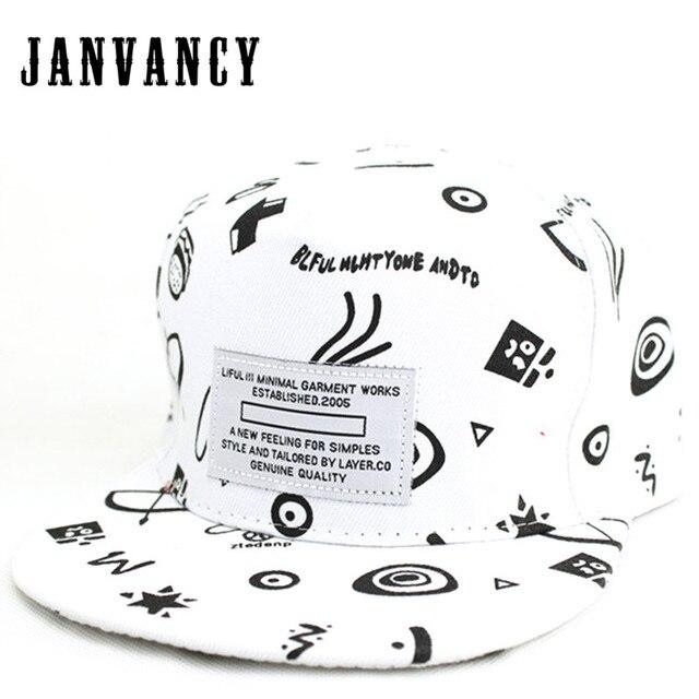 55e4f94a9826c Janvancy Baseball Caps Men Women Adult kids Print Snapbacks Bone Hats Flat Hip  Hop Steampunk