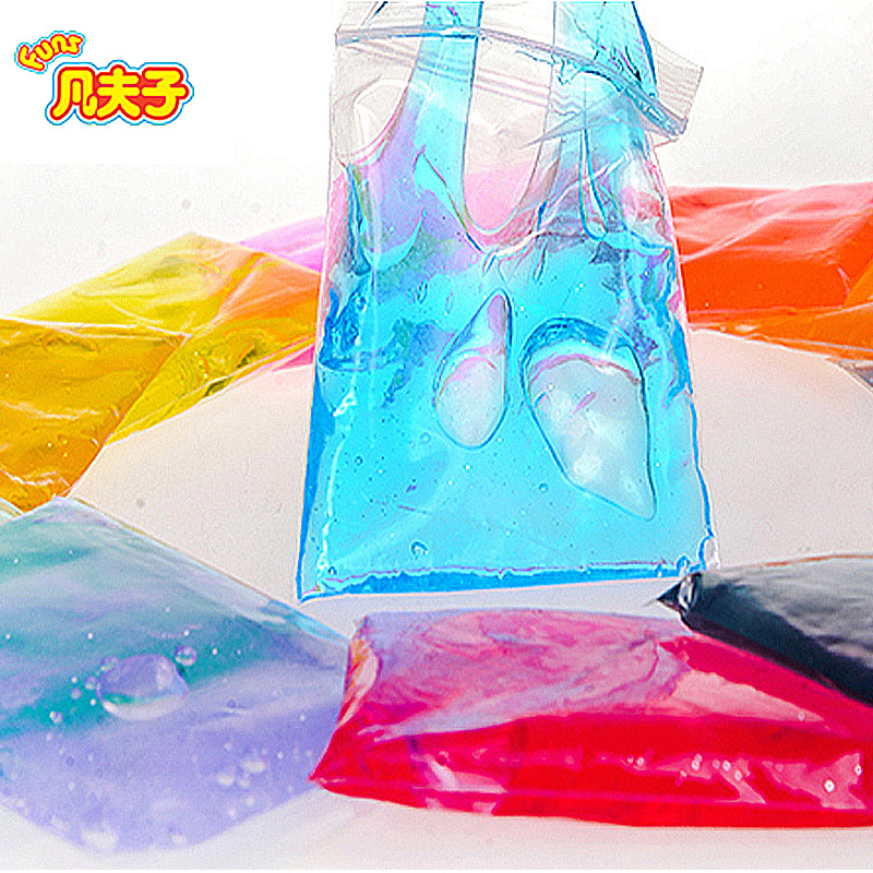 2017 New Blowing Bubbles 3*30g/set Crystal Slime Colourful Modeling Clay Draw Kids Toy Magnetic Mud Intelligent  Plasticine
