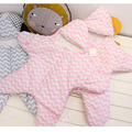 Cute starfish cartoon sleeping bag newborns winter strollers bed swaddle blanket wrap bedding envelope  baby ER349