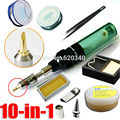 10 em 1 verde Sopro de Gás Da Tocha Butano Gás Ferro de Solda Gun Sem Fio do Ferro de Solda MT-100