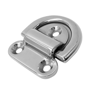 Image 3 - 1 Pcs 1.7″x 1.6″ Mirror Polish 316 Stainless Steel Boat Folding Pad Eye Lashing D Ring Tie Down Cleat For Yacht RV Truck Etc