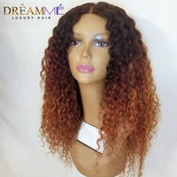 13X6 Deep Part Lace Front Wig Pre Plucked With Baby Hair Ombre Curly Short Human Hair Wigs Brazilian Remy Blonde Front Lace Wig