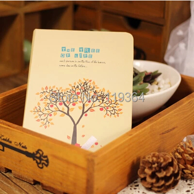 Creative Vintage The tree of life series Notepads/thick notebook paper/notebooks/Diary books the construction of taj mahal tourism 3d cubic life manual paper card card creative stereo