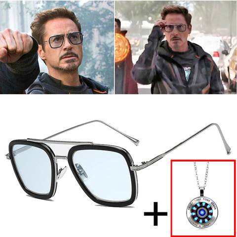AOZE Fashion Avengers Tony Stark Flight Style Sunglasses Men Square Brand Design Sun Glasses Oculos De Sol  UV400 Retro male Pakistan