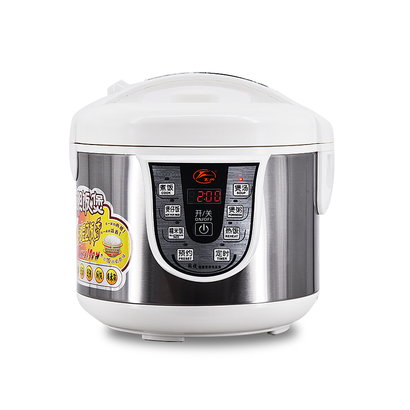 220V 3L/4L/5L Electric Rice Cooker High Temperature Resistant Ceramic Electric Rice Cooker With English Button EU/AU/UK/US smart mini electric rice cooker small household intelligent reheating rice cookers kitchen pot 3l for 1 2 3 4 people eu us plug
