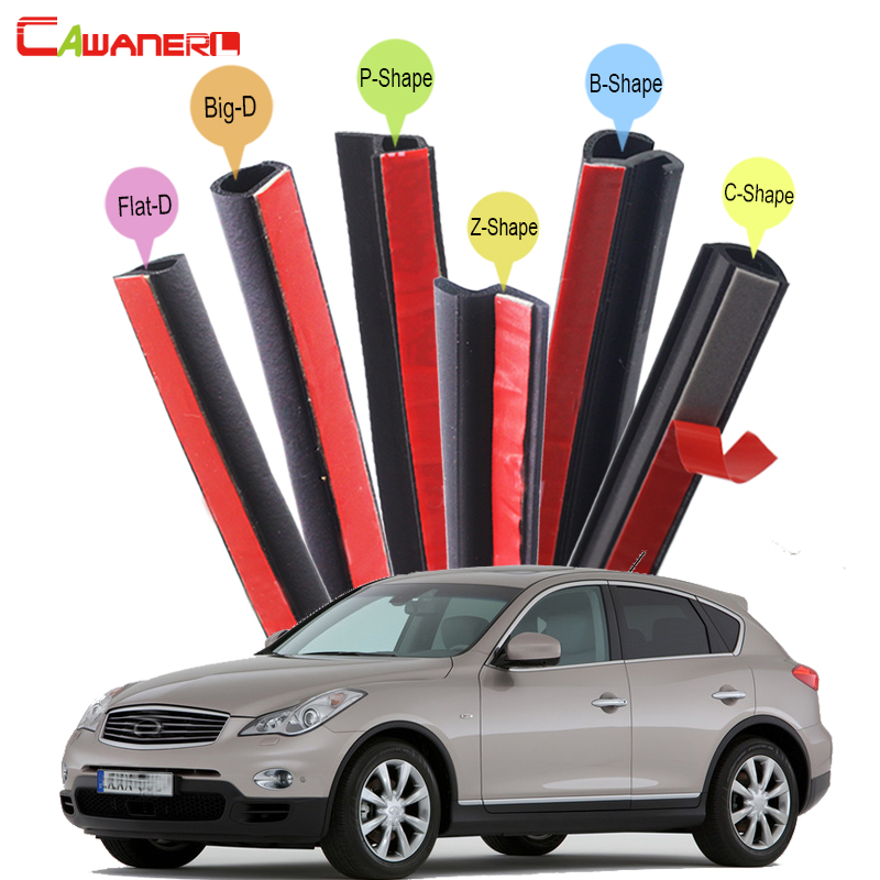 Cawanerl Car Seal Sealing Strip Kit Sound Insulation For Infiniti EX EX25 EX35 EX37 Auto Rubber Weatherstrip Seal Edge Trim цена