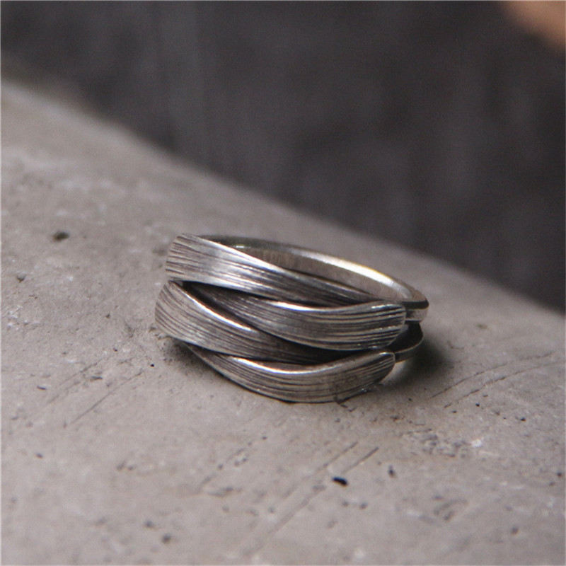 Ручной работы тайский серебро тканые звенит Для женщин 100% чистого серебра 925 Черный Античный Тайский серебряные женские бесплатно шкатулка...