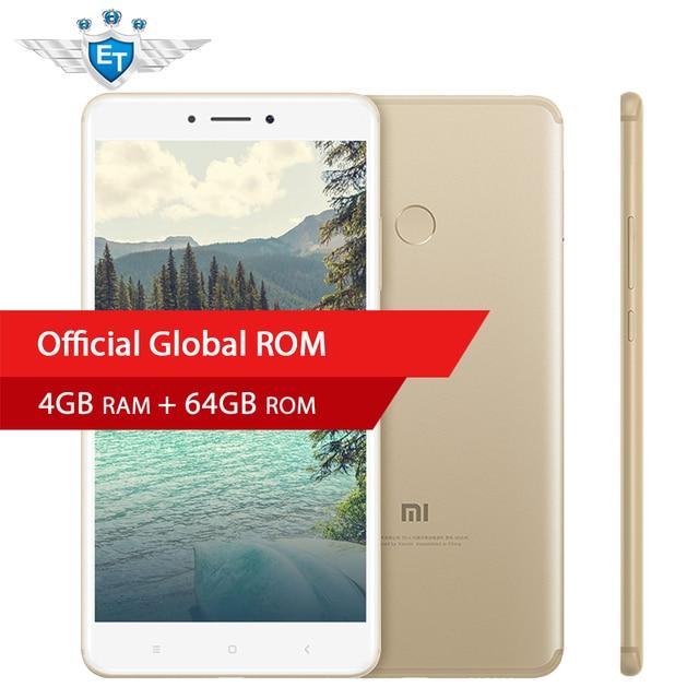 "Original Xiaomi Mi Max 2 Mobile Phone 4GB RAM 64GB Phablet Snapdragon 625 Octa Core  6.44"" 1080P 12.0MP IMX386 5300mAh Battery"