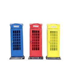 Creative London Telephone Booth Money Box Piggy Bank Iron Crafts Furnishing Articles Currency Save Coin Kids Birthday Gifts