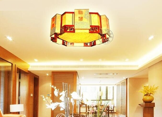 Chinese style Wooden Chinese style living room classical creative shaped ceiling lamps bedroom ceiling lamp ZH ZS59 магия золота магия золота серьги с фианитами 126417