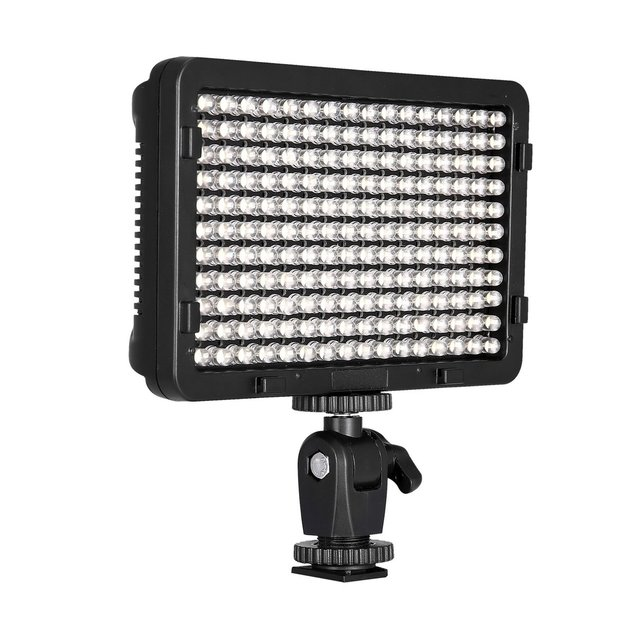 LED Ultra Bright 5500K Video Light for Canon,Nikon,Pentax,Panasonic,Sony,Samsung,Olympus and Other Digital SLR Cameras(PT-176S)