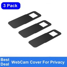 FULCOL 3PACK WebCam Cover Shutter Magnet Slider Plastic Universal Camera Cover For Web Laptop iPad PC Mac Tablet Privacy Sticker(China)