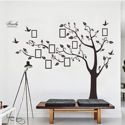 Large Black 3D DIY Photos Frame Trees PVC Wall Decals/Adhesive Family Wall Stickers Mural Art Home Decor Living Room Decorations