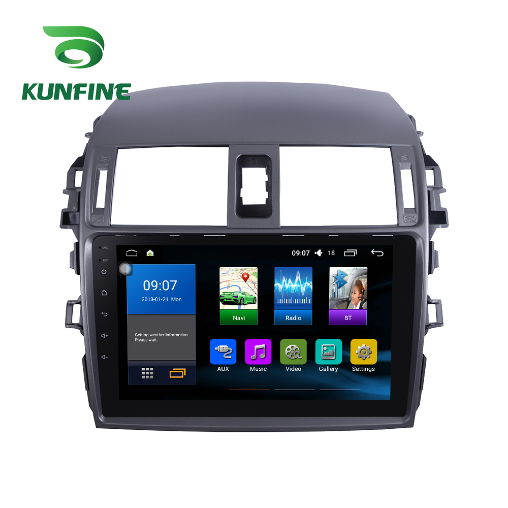 Octa Core 1024*600 Android 7.1 Car DVD GPS Navigation Player Deckless Car Stereo For Toyota COROLLA 2007-2013 Radio Headunit