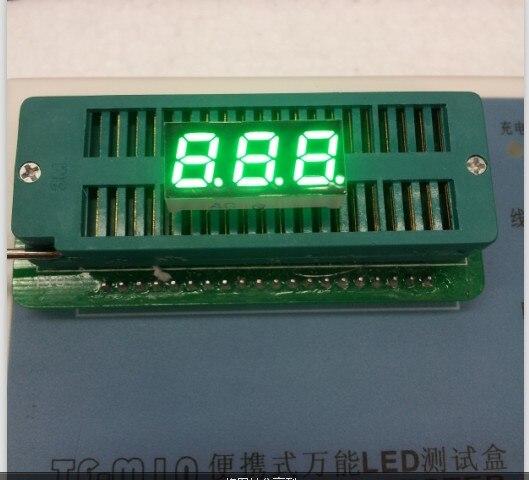 100pc Common Anode/Common Cathode 0.28 Inch Digital Tube 3 Bit Digital Tube 0.28inches Best  Emerald Digital Tube Green