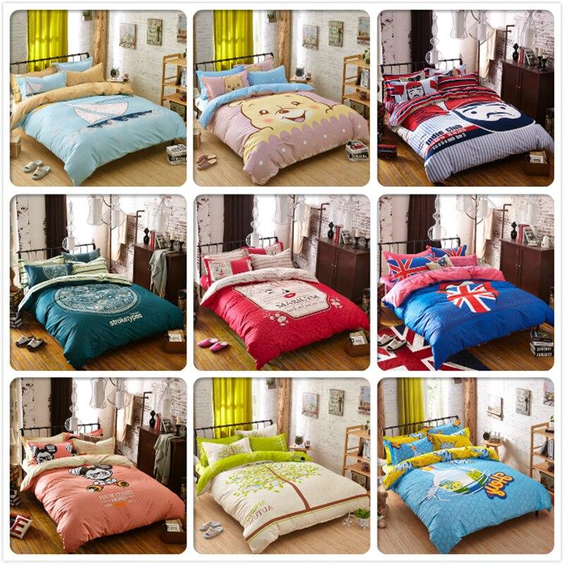 Winter Warm 3/4 pcs Bedding Set 1.5m 1.8m 2.0m Bedsheet Twin Double Queen King Size Duvet Cover Kids Bedlinens Cotton Bedclothes
