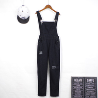 2018 New Brief Solid Women Jumpsuits Moveable Strap Rompers Casual Big Pocket Denim Overalls Candy Jean