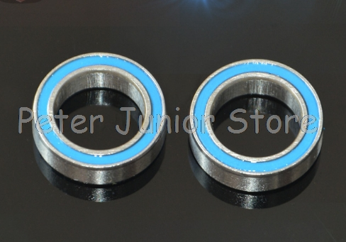 10PCS Blue 8x16x5mm <font><b>688</b></font> <font><b>2RS</b></font> Rubber Sealed Ball <font><b>Bearing</b></font> <font><b>Bearings</b></font> 688RS image
