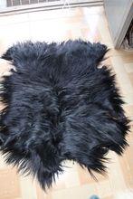 チベット子羊敷物モンゴル子羊スキン/黒ヤギ毛皮スキン