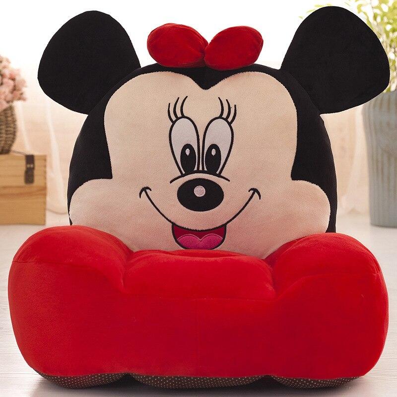 Bébé enfants sièges bébé canapé bébé enfants dessin animé Minnie Mickey enfants jouets en peluche avec PP coton matériel de remplissage 55*55 CM
