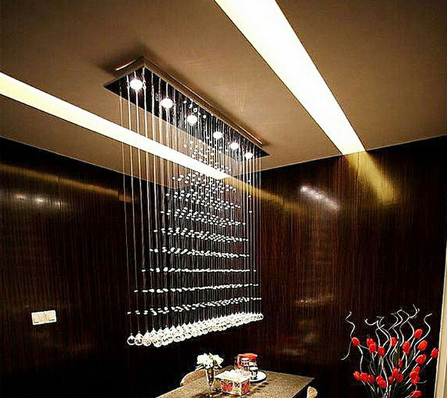 Pyramid Crystal Restaurant Light Parion Lights Lamp Hanging Line Lighting Bar Modern Led